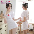Nightdress Fei Mu Hair band + nurse skirt + T pants, hair band + nurse skirt + T pants + Lace net socks, hair band + nurse skirt + T pants + needle tube, hair band + nurse skirt + T pants + net socks + needle tube Average size sexy youth Polyester (polyester) More than 95% Composite fabric Z-7986