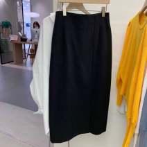 skirt Winter 2020 S waist 68, m waist 70 White, black longuette commute High waist Pleated skirt 25-29 years old 51% (inclusive) - 70% (inclusive) cotton pocket