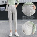 Suit pants / suit pants S,M,L,XL,2XL Apricot, black Winter of 2019 Self cultivation High waist thickening Self made pictures 18-24 years old girl Wool Korean version