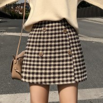 skirt Winter 2020 S,M,L,XL,2XL Gag, Hagrid, collect and give gifts Short skirt commute High waist A-line skirt Korean version
