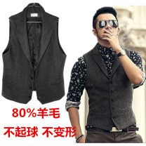 Vest / vest Fashion City Flying phoenix Other leisure Self cultivation Vest routine spring tailored collar Large size Simplicity in Europe and America Single breasted wool Make old other Tweed 80% (inclusive) - 89% (inclusive)