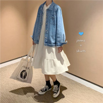 Fashion suit Spring 2021 Average size Denim jacket, dress 18-25 years old Other / other 31% (inclusive) - 50% (inclusive)