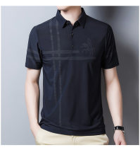 Polo shirt Kuchi Rooster Business gentleman thin 165/80A,170/84A,175/88A,180/92A,185/96A Self cultivation Other leisure summer Short sleeve P110-123 Business Casual routine youth New polyester fiber 95% polyurethane elastic fiber (spandex) 5% 2021 stripe other No iron treatment printing
