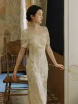 Dress Summer 2021 Apricot embroidery S,M,L