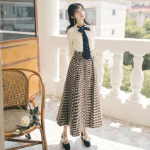 Fashion suit Winter of 2019 S,M,L Shirt + tweed skirt Other / other