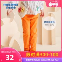 trousers Mesamis / momomi female 80cm 90cm 100cm 110cm 120cm Bright orange beibai peach powder dark grey spring and autumn trousers leisure time There are models in the real shooting Leggings Leather belt middle-waisted cotton Cotton 93% polyurethane elastic fiber (spandex) 7% 291GXL04 Class B
