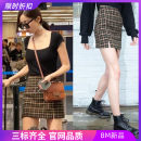 skirt Summer 2020 Average size Check mix Short skirt street High waist 18-24 years old 91% (inclusive) - 95% (inclusive) cotton Europe and America