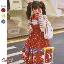Dress Summer 2020 Red, yellow, blue S,M,L singleton  Sweet Hand painted CuteQ Lolita