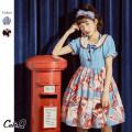 Dress Lolita Summer 2020 singleton  Sweet Cute.q/qiute Crew neck Hand painted S,M,L