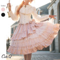 skirt Winter 2020 S,M,L Black, pink Mid length dress Rococo Natural waist Irregular Solid color