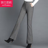 Middle aged and old women's wear Winter 2020 Chihuage (8066) fashion trousers Self cultivation singleton  Thousand bird pattern 40-49 years old thick