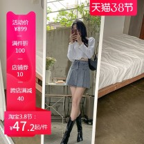 Cosplay women's wear jacket goods in stock Over 14 years old Light Blue Stretch safety pants comic M1-3 Tianfa