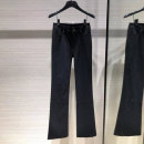 Casual pants black 1 / 26, 2 / 27, 3 / 28, 4 / 29, 5 / 30, 6 / 31 Spring 2021 trousers Flared trousers Natural waist commute routine 91% (inclusive) - 95% (inclusive) Pinge Dixin nylon Ol style Three dimensional cutting nylon