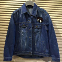 short coat Autumn of 2019 2 / s, 3 / m, 4 / L, 5 / XL Dark blue (gesture), light blue (skull) Long sleeves have cash less than that is registered in the accounts routine singleton  easy Versatile routine Polo collar Single breasted other Santa Anastasia 96% and above Embroidery, pocket cotton