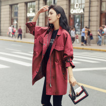Windbreaker Autumn of 2018 S M L claret Long sleeves routine Medium length commute zipper stand collar raglan sleeve Solid color Straight cylinder Korean version 96% and above cotton cotton polyester fiber
