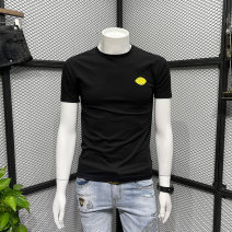 T-shirt Fashion City Pink brown black white routine M L XL 2XL 3XL Trentany Short sleeve Crew neck Self cultivation daily summer 52A98012 Cotton 74% pet 26% youth routine tide Summer 2021 Solid color Embroidered logo cotton No iron treatment Fashion brand Pure e-commerce (online only)