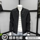 Jacket Trentany Fashion City black M L XL 2XL 3XL routine Self cultivation Other leisure spring Polyester 100% Long sleeves Wear out Baseball collar tide youth routine Zipper placket Closing sleeve Solid color Spring 2021 Pure e-commerce (online only) polyester fiber