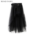 skirt Spring 2021 XS,S,M black Mid length dress commute High waist Irregular Solid color Type A 25-29 years old More than 95% other Yididisin other Mesh, stitching Korean version