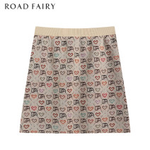 skirt Spring 2021 XS,S,M khaki Short skirt commute High waist A-line skirt Dot Type A 25-29 years old 31% (inclusive) - 50% (inclusive) knitting Yididisin other Bright silk, printing, jacquard Retro