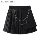 skirt Spring 2021 XS,S,M black Short skirt commute High waist A-line skirt lattice Type A 25-29 years old 31% (inclusive) - 50% (inclusive) other Yididisin Chain, zipper, stitching Korean version