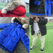 Down Jackets Polyester 100cm 110cm 120cm 130cm 140cm 150cm Other / other White goose down child 90% Red Blue Black Cap detachable Class A