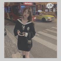 Dress Autumn 2020 black S [collection and purchase first delivery], m [collection and purchase first delivery], l [collection and purchase first delivery] Short skirt singleton  Long sleeves commute Others Korean version