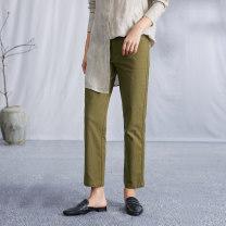 Casual pants Ebony gold XS,S,M,L,XL Autumn 2020 trousers Pencil pants original routine 25-29 years old 71% (inclusive) - 80% (inclusive) K2542 Q.TU cotton cotton
