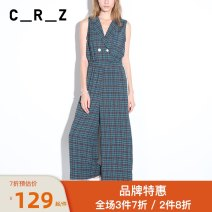 Casual pants S,M,L Summer of 2019 trousers Jumpsuit Natural waist commute 96% and above CRZ literature Three dimensional cutting
