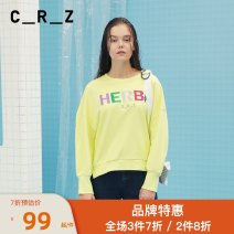 Sweater / sweater Spring of 2019 L14 fluorescent green, W20 off white S/160,M/165,L/170 Long sleeves routine Socket singleton  routine Crew neck easy commute routine letter 25-29 years old 81% (inclusive) - 90% (inclusive) CRZ literature cotton CDM1V048 printing cotton