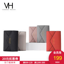 wallet Short Wallet cowhide VANESSA HOGAN Pearlescent Grey Pink Orange Black White brand new Europe and America female Buckles Solid color 70% off Horizontal style youth Zipper compartment of large banknote clip Belt decoration Textile VH20536LDY1716A Split split transfer leather