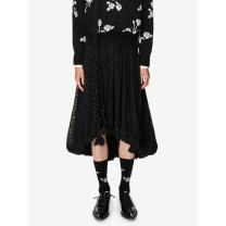 skirt Winter 2020 S, M black Mid length dress Retro High waist A-line skirt other Type A 25-29 years old 31% (inclusive) - 50% (inclusive) Lace Studio1till8 cotton Pleats, lace