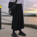 skirt Autumn of 2019 M L XL Black dark grey Mid length dress commute High waist A-line skirt Solid color Type A 18-24 years old More than 95% brocade Wanyan cotton Korean version Cotton 100% Pure e-commerce (online only)