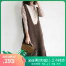 Dress Winter 2020 Black, brown M,L,XL Mid length dress singleton  Sleeveless commute V-neck Type H Korean version Ruffles, stitching