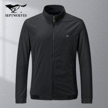 Jacket Septwolves Fashion City 001 (black) 102 (dark blue) 701 (Khaki) 165/84A/M 170/88A/L 175/92A/XL 180/96A/XXL 185/100A/XXXL 190/104A/XXXXL routine standard go to work spring 1D1A10101777 Polyamide fiber (nylon) 85.8% polyurethane elastic fiber (spandex) 14.2% Long sleeves Wear out stand collar