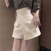 skirt Autumn 2020 M, S Skirt white, skirt black, skirt light green, plaid shirt Short skirt commute High waist A-line skirt Solid color Type A 18-24 years old Other / other Korean version