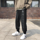 Casual pants Others Youth fashion Gray, black S. M, l, XL, 2XL, 3XL, 4XL, 5XL, XS plus small routine Ninth pants Other leisure easy Micro bomb Four seasons teenagers Hip hop 2021 middle-waisted Little feet Sports pants Pocket decoration Solid color other other