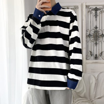 Sweater Youth fashion Others Grey, black, yellow S. M, l, XL, 2XL, XS plus small stripe Socket routine Baseball collar spring easy leisure time youth Basic public raglan sleeve Cotton polyester other other