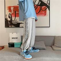 sweatpants  S. M, l, XL, 2XL, 3XL, XS plus small Ninth pants Other / other Gray, black Other leisure Youth fashion easy routine spring Little feet 2021