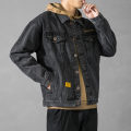 Jacket Other / other Youth fashion M. L, s, XL, 2XL, 3XL, XS plus small, 4XL, 5XL Plush and thicken easy Other leisure winter Long sleeves Wear out Lapel tide teenagers routine Single breasted 2020 Cloth hem washing Loose cuff other Denim Embroidery Side seam pocket cotton