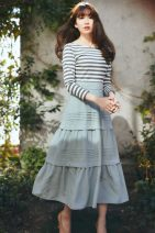 Dress Summer 2021 Stripe splicing light blue, please note: different styles need to be paid separately, please note: spot and pre-sale need to be paid separately 0 (daily cabinet s), 1 (daily cabinet m)