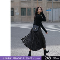 skirt Winter 2020 S, M Iron grey, tea brown longuette commute Natural waist A-line skirt Solid color Type A 25-29 years old R20AW1773B1A More than 95% Epoque de rueen / Ruishi polyester fiber