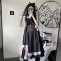 Dress Summer 2021 black S,M,L Miniskirt singleton  commute High waist Socket Irregular skirt camisole 18-24 years old 9955# 31% (inclusive) - 50% (inclusive) polyester fiber