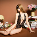 Fun suit Angel of flowers Lace Red black one thousand and fifty Tight coating style Queen's dress Netting one thousand and fifty one thousand and fifty Average size