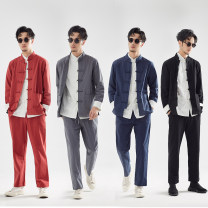 National Costume There are carp M L XL 2XL 3XL 4XL 5XL Grey 3-piece blue 3-piece red 3-piece black 3-piece grey 2-piece (coat + trousers) blue 2-piece (coat + trousers) black 2-piece (coat + trousers) red 2-piece (coat + trousers) grey coat blue coat black coat red coat shirt Tang costume TZ025 youth