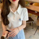Fashion suit Spring 2021 Average size Blue checked vest, red checked vest, white bear T-shirt, black skirt s, light blue skirt s, Black Skirt M, black skirt L, light blue skirt m, light blue skirt L 18-25 years old