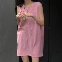 Vest sling Summer 2021 Dark grey, pink Average size singleton  Medium length easy commute other 31% (inclusive) - 50% (inclusive) cotton B61