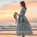 Dress Summer of 2019 Blue, pink S,M,L,XL Midsummer story