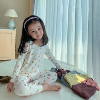 Home suit LAN xiaopa 80, 90, qiqichuan, 100, 110, 120, 130, 140, 150 Brown, warm grey, grass green, milk white spring female Other 100% 18 months, 2 years old, 3 years old, 4 years old, 5 years old, 6 years old, 7 years old, 8 years old, 9 years old, 10 years old cotton