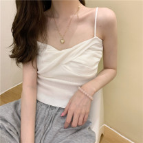Women's large Summer 2021 Pink white yellow red blue black apricot S M L commute Korean version Enigma 18-24 years old Other 100% Pure e-commerce (online only)