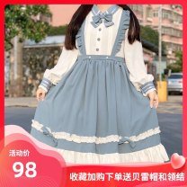 Lolita Dress Blue (small items for collection and purchase) S,M,L Cheese cat's journey hemp